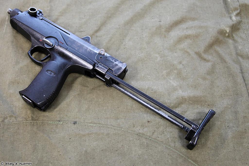 9х18 пистолет-пулемет АЕК-919К Каштан (9x18 submachine gun AEK-919K Kashtan)