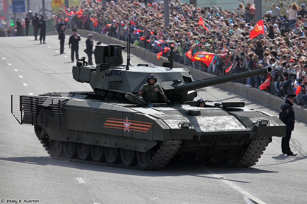 Military vehicles in Moscow after the Victory Day Parade 2015