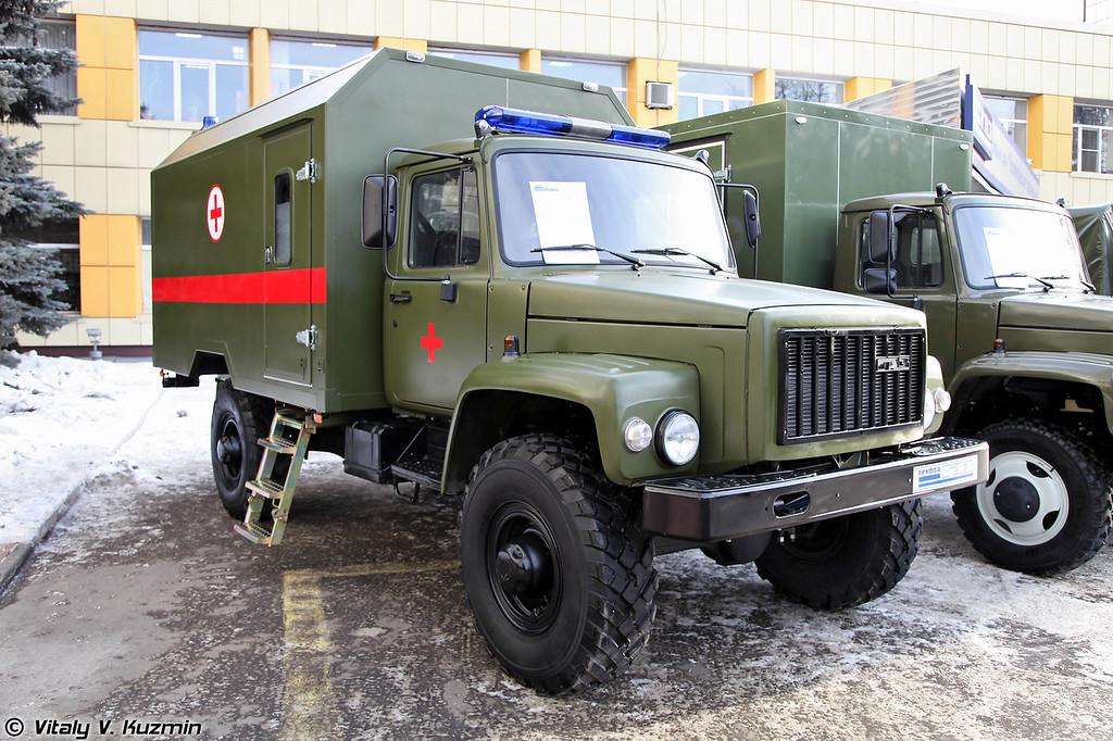 Медицинский эвакуационный комплекс ГАЗ-33081-1091 на базе ГАЗ-33081 Садко (Medic vehicle GAZ-33081-1091 on GAZ-33081 Sadko chassis)