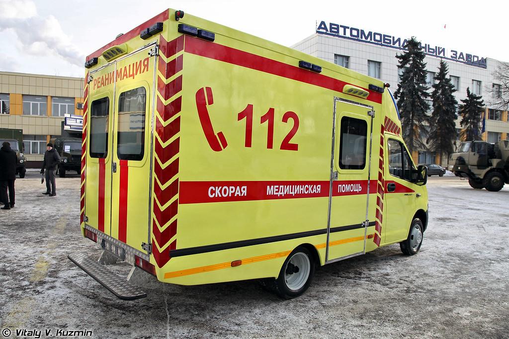 Автомобиль скорой помощи ГАЗ-А21R22 на базе ГАЗель NEXT (Ambulance vehicle GAZ-A21R22 on GAZel NEXT chassis)