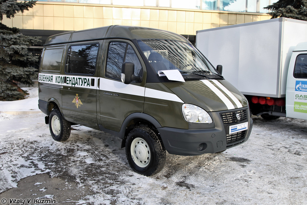 Автомобиль военной инспекции на базе ГАЗ-27527 Соболь (Military inspection vehicle on GAZ-27527 base)
