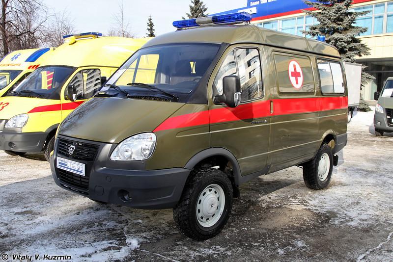 Малый медицинский эвакуационный комплекс на базе ГАЗ-27527 Соболь (Medic vehicle pn GAZ-27527 Sobol base)