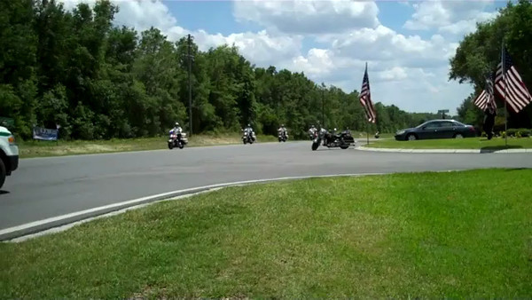 "Hundreds escort Jack ""Breakdown"" Sellers III, to his final resting place at Florida National Cemetery in Bushnell, Florida"