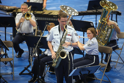 "SSGT Dusty Thomas plays ""Summertime"" on his Tenor Saxophone."
