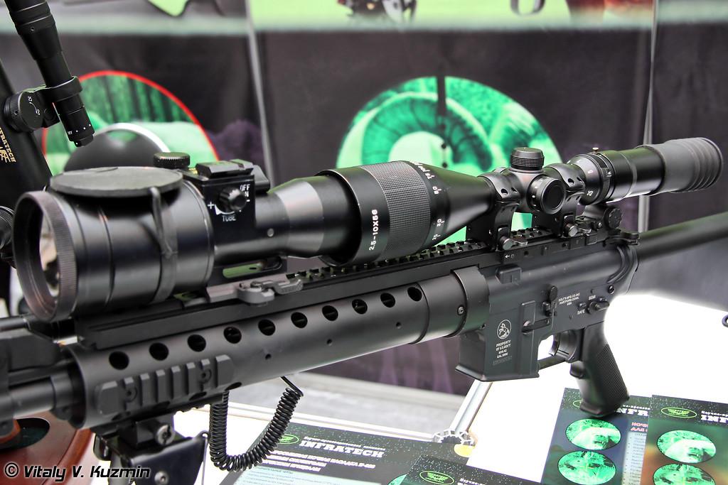 Ночная насадка INFRATECH IT-320D к дневным оптическим прицелам (Night vision nozzle INFRATECH IT-320D for day scopes)