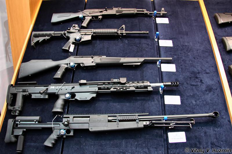 SDI GSG-47, Colt M4 OPS R, DSR-1 .338 и PGM .338