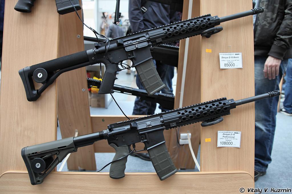 .223 Rem карабины Zbroyar Z-15 Basic и Z-15 Professional