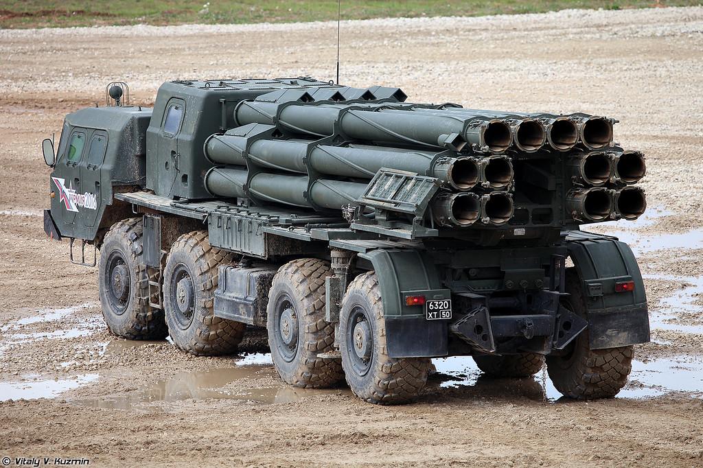 Боевая машина 9А52-2 РСЗО 9К58 Смерч (9A52-2 launch vehicle of 9K58 / BM-30 Smerch MLRS)