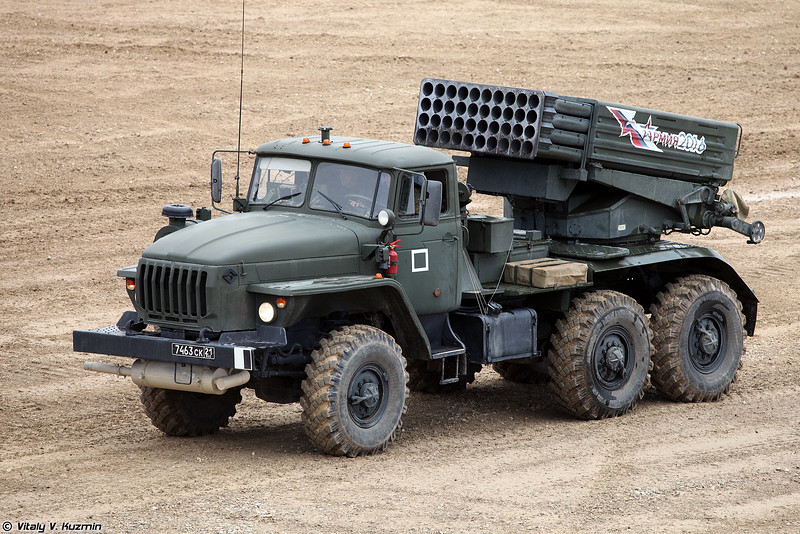 Боевая машина 2Б17М РСЗО 9К51М Торнадо-Г (2B17M combat vehicle of 9K51M Tornado-G MLRS)