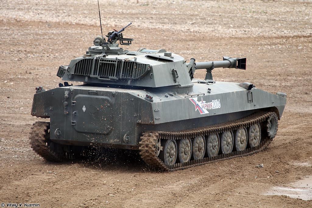 Самоходное артиллерийское орудие 2С34 Хоста (2S34 Khosta self-propelled artillery)