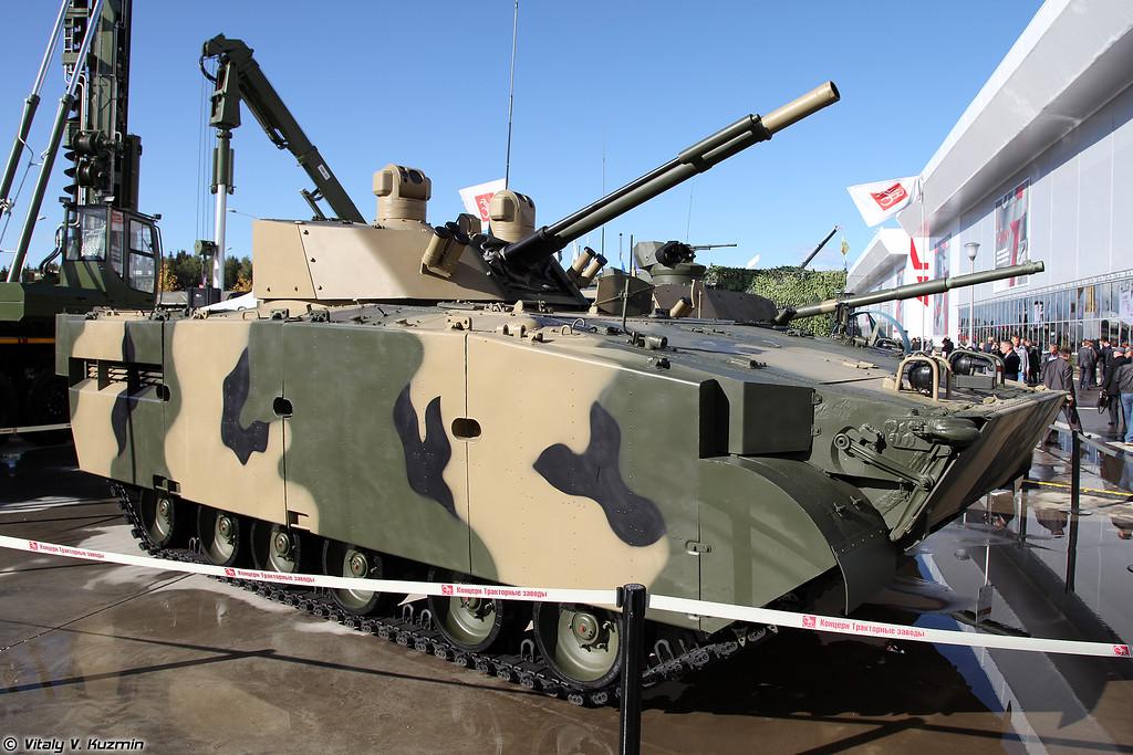 БМП-3М Драгун с боевым модулем БМ 100+30 (BMP-3M Dragun with BM 100+30 turret system)