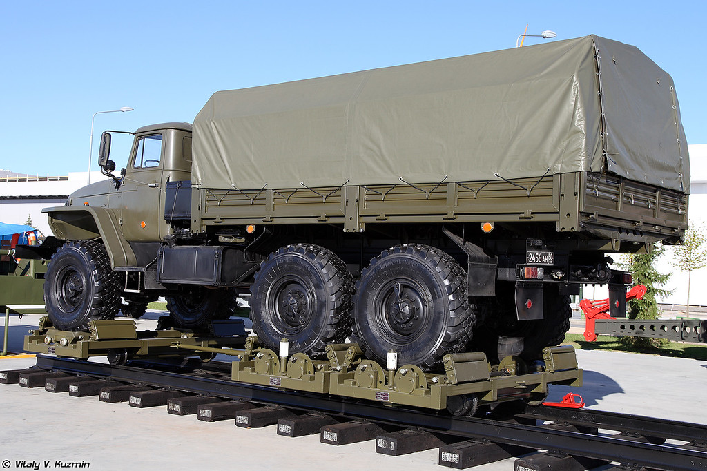 Универсальный комбинированный ход УКХ (UKKh railroad truck for wheeled vehicles)