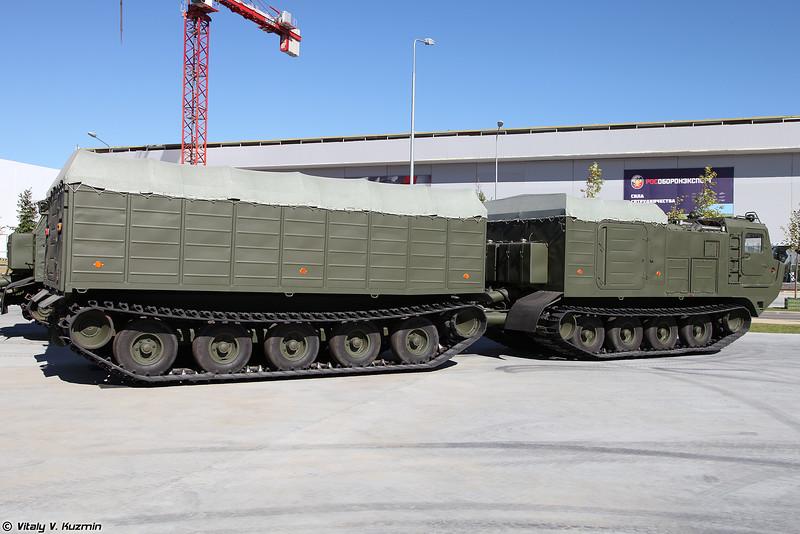 Двухзвенный гусеничный транспортер ДТ-10ПМ (DT-10PM tracked transporter)