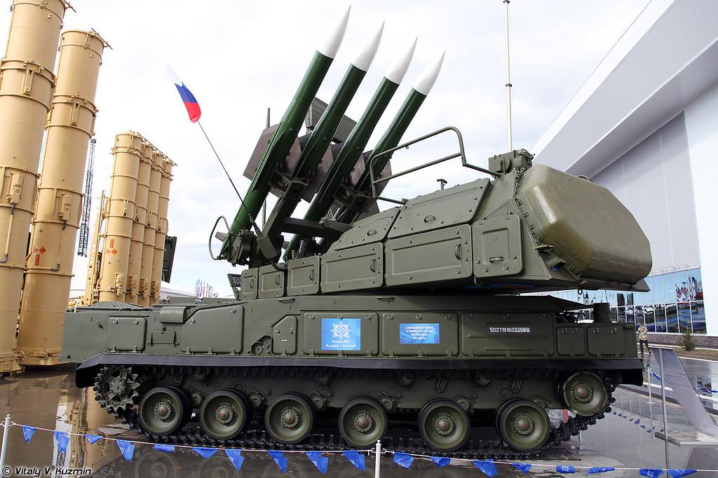 СОУ 9А317Э ЗРК Бук-М2Э (9A317E TELAR of Buk-M2E system)