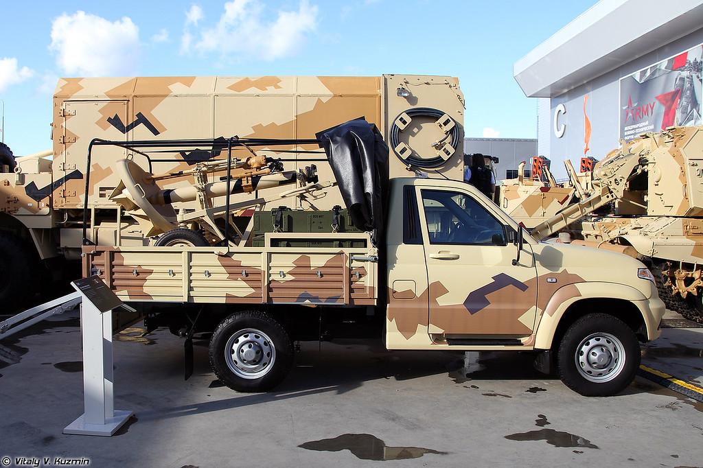 120-мм миномет 2Б11 на шасси УАЗ Cargo 23602 (120mm mortar 2B11 on UAZ Cargo 23602 chassis)