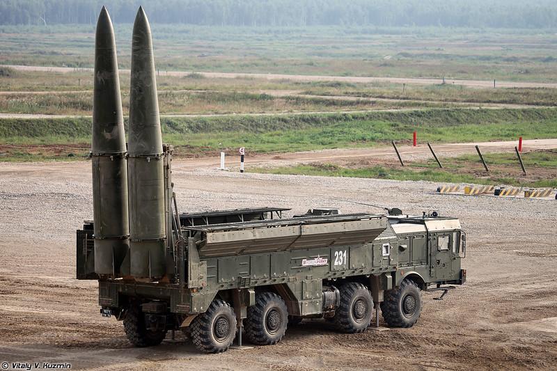 Самоходная пусковая установка 9П78-1 ОТРК 9К720 Искандер-М с ракетами 9М723К5 (9P78-1 TEL of 9K720 Iskander-M SRBM system with 9M723K5 missiles)