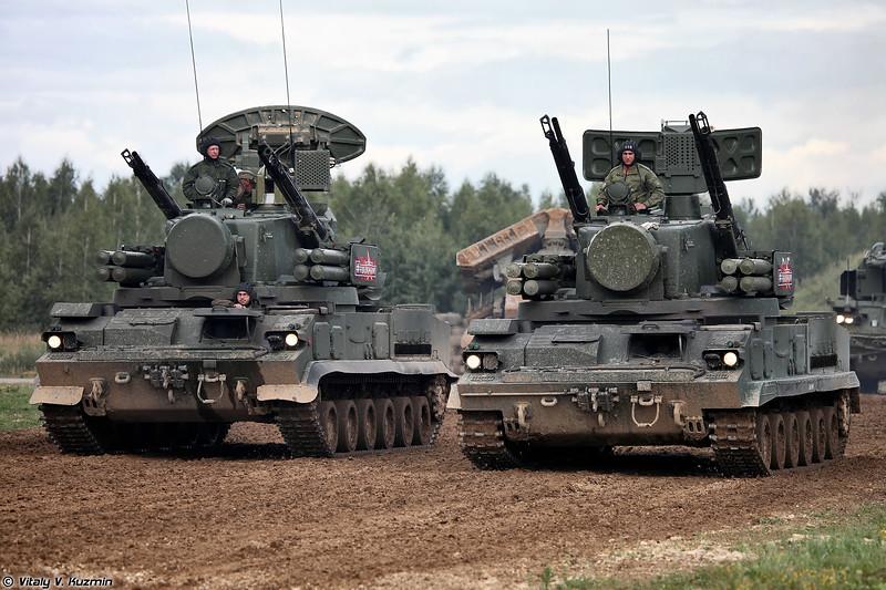 2К22М1 Тунгуска-М1 и 2К22М Тунгуска-М (2K22M1 Tunguska-M1 and 2K22M Tunguska-M systems)