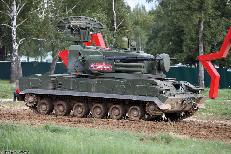 Боевая машина 2С6М1 ЗРПК 2К22М1 Тунгуска-М1 (2S6M1 combat vehicle of 2K22M1 Tunguska-M1 system)