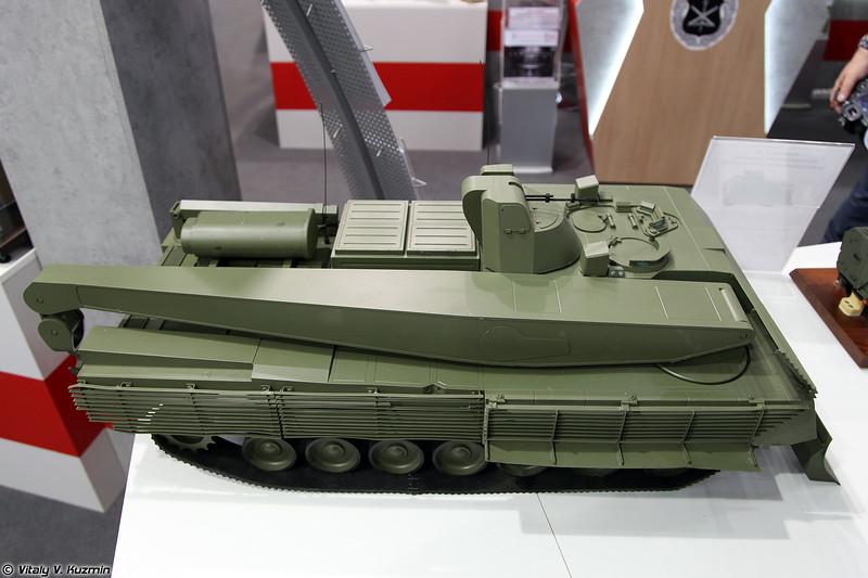 БРЭМ Т-16 объект 152 на тяжелой гусеничной унифицированной платформе Армата (T-16 object 152 armored recovery vehicle on heavy unified tracked platform Armata)