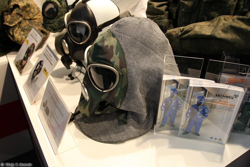 Противогаз ПМК-3 с капюшоном из состава защитного комплекта ПКР (PMK-3 gas mask)