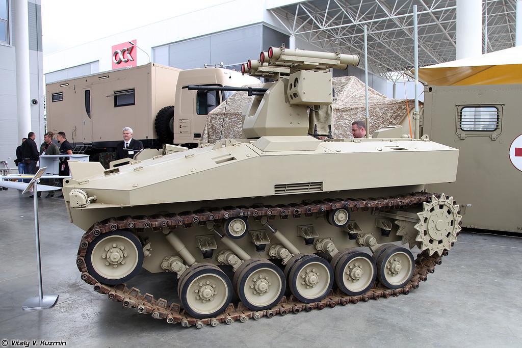 Боевая автоматизированная система БАС-01 БМ Соратник (BAS-01 BM Soratnik unmanned ground vehicle)