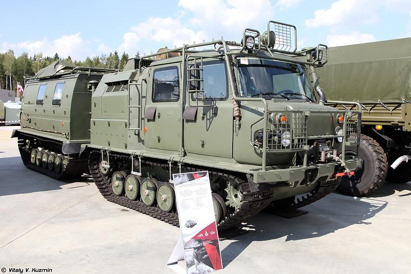 Двухзвенный гусеничный транспортер-тягач ГАЗ-3344-20 (GAZ-3344-20 tracked all-terrain vehicle)