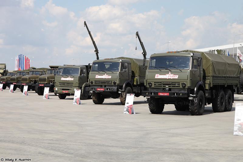 Линейка автомобилей КАМАЗ (KAMAZ trucks)