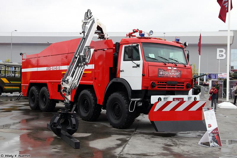 Автомобиль пожарно-спасательный бронированный АПСБ-6,0-40-10 (APSB-6,0-40-10 armored fire truck)