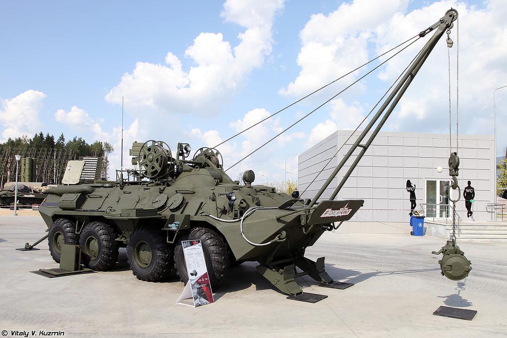 Бронированная ремонтно-эвакуационная машина БРЭМ-К (BREM-K armored recovery vehicle)
