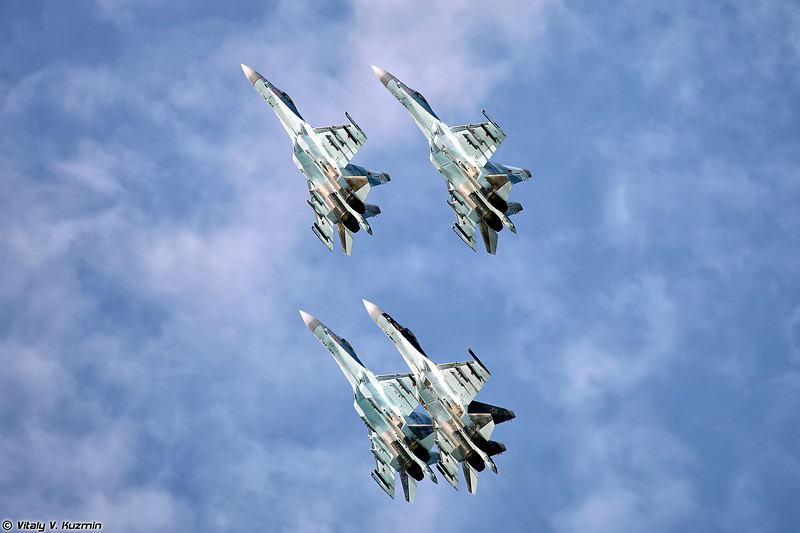 АГВП Соколы России на Су-35С (Falcons of Russia aerobatic team Su-35S)