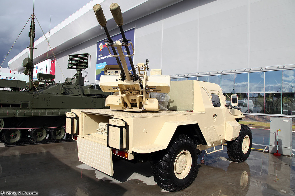 23-мм сверхмобильная артиллерийская многоцелевая установка модернизированная САМУМ (Project SAMUM with ZU-23-2 cannon)