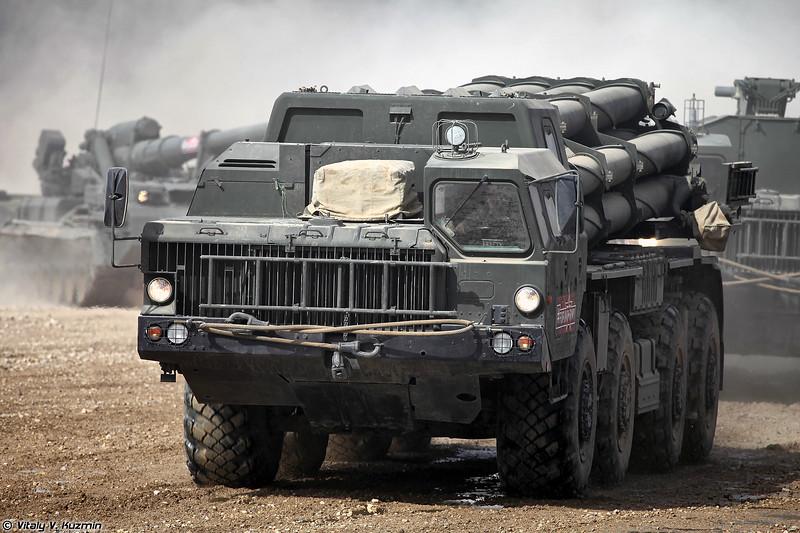 Боевая машина 9А52-2 РСЗО 9К58 Смерч (9A52-2 launcher of 9K58 / BM-30 Smerch MLRS)