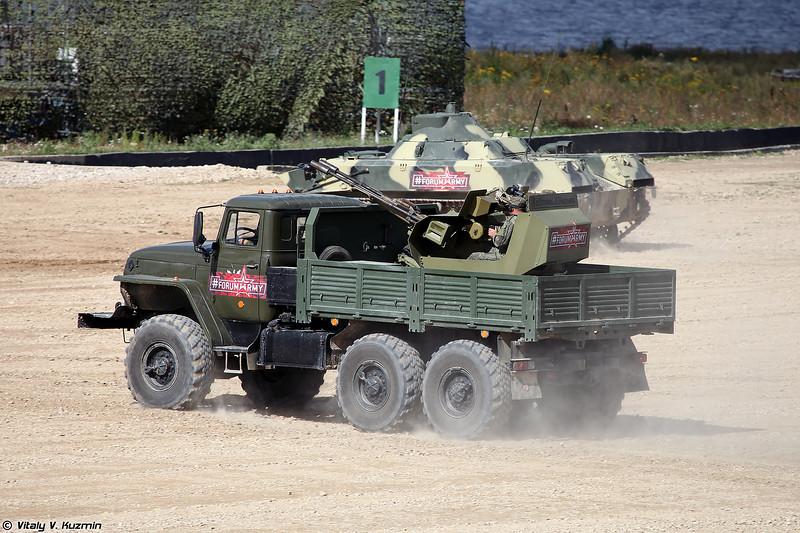 Зенитная установка ЗУ-23М на шасси Урал-4320 (ZU-23M on Ural-4320 chassis)