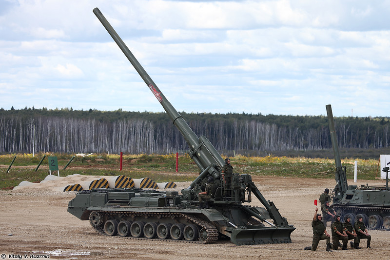 Самоходная пушка 2С7М Малка (2S7M Malka self-propelled gun)