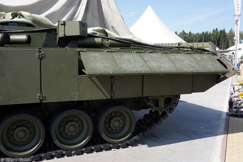 Тяжелая боевая машина пехоты Т-15  с боевым модулем с 57-мм автоматической пушкой и ПТУР 9М120 Атака на ТГУП Армата (Heavy infantry fighting vehicle T-15 Armata object 149 with 57mm gun and 9M120 Ataka ATGM)