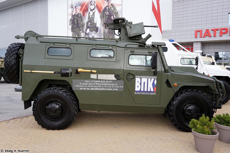 АМН 233114 Тигр-М с боевым модулем Арбалет-ДМ и пушкой АП-23 (AMN 233114 Tigr-M with Arbalet-DM and AP-23 gun)