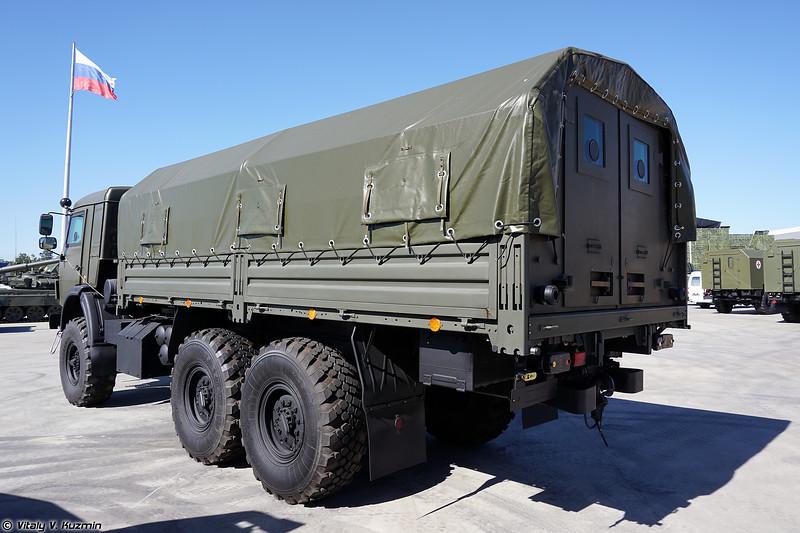Бронеавтомобиль КАМАЗ-5350 с защищенным модулем ММ-501 (Armored KAMAZ-5350 with armored compartment MM-501)