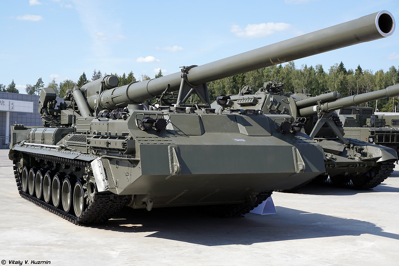 2С7М Малка (2S7M Malka self-propelled artillery)