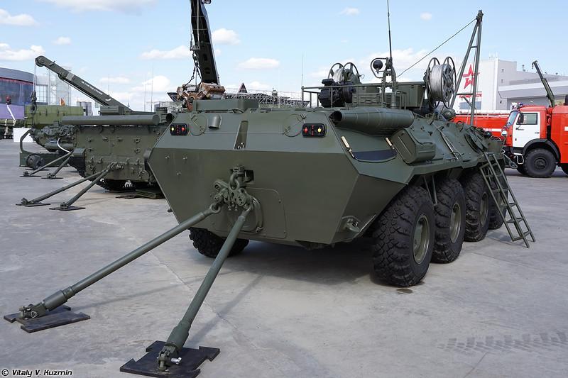 Бронированная ремонтно-эвакуационная машина БРЭМ-К (BREM-K armored repair and recovery vehicle)