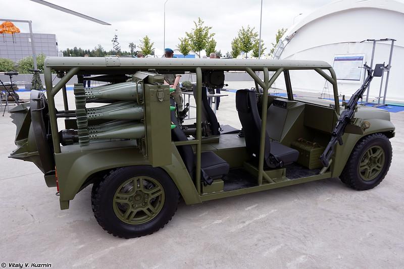 Многоцелевой аэромобильный автомобиль для перевозки миномета МАА-М (MAA-M tactical vehicle with mortar)