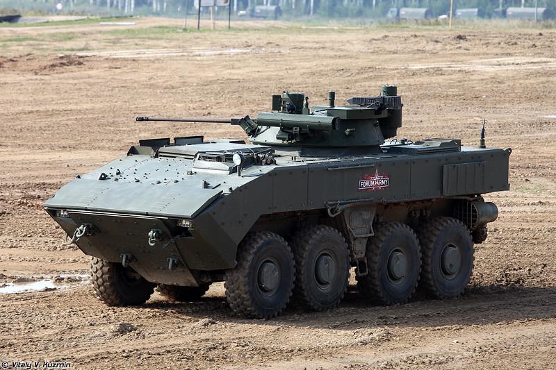 БМП-К К-17 с комплексом вооружения Б05Я01 Бережок на платформе ВПК-7829 Бумеранг (Wheeled IFV BMP-K K-17 with B05Ya01 Berezhok turret on platform VPK-7829 Bumerang)