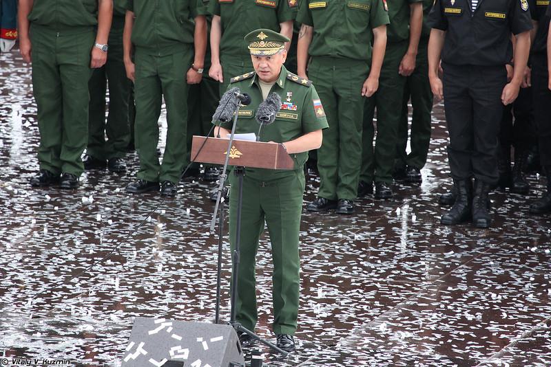 Выступление министра обороны (Minister of Defence of Russia)
