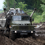 ????-260 ??? ????????? ?????? ???-460 (KrAZ-260 for BMK-460 boat transportation)