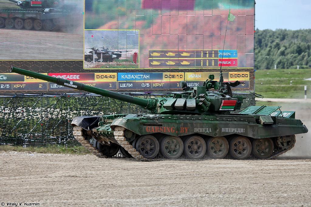 Танк Т-72Б3 команды Республики Беларусь (T-72B3 tank of Belarus team)