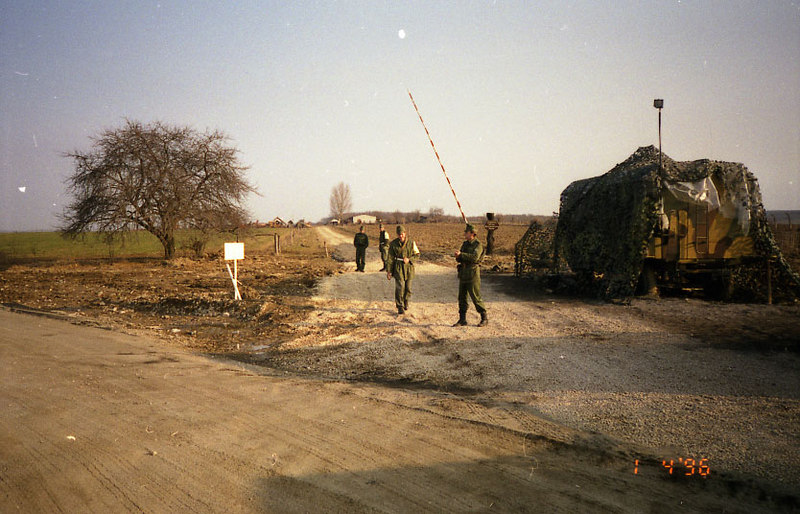 April 1st, 1996:  We move out of Taszar Air Base, Hungary, on a tour bus bound for Bosnia.