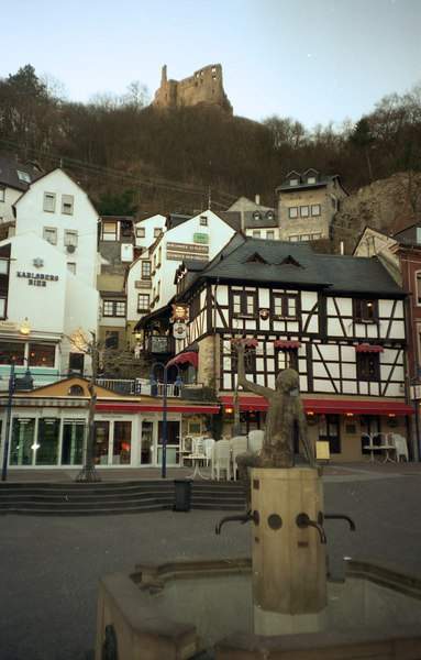 Idar-Oberstein, Germany.  I managed to get around to a few towns around Baumholder before being deployed.  I-O is about 10k west of Baumholder.  The Strasbourg Kaserne sits on top of a hill above I-O and housed the 40th Engineers as well as family housing.