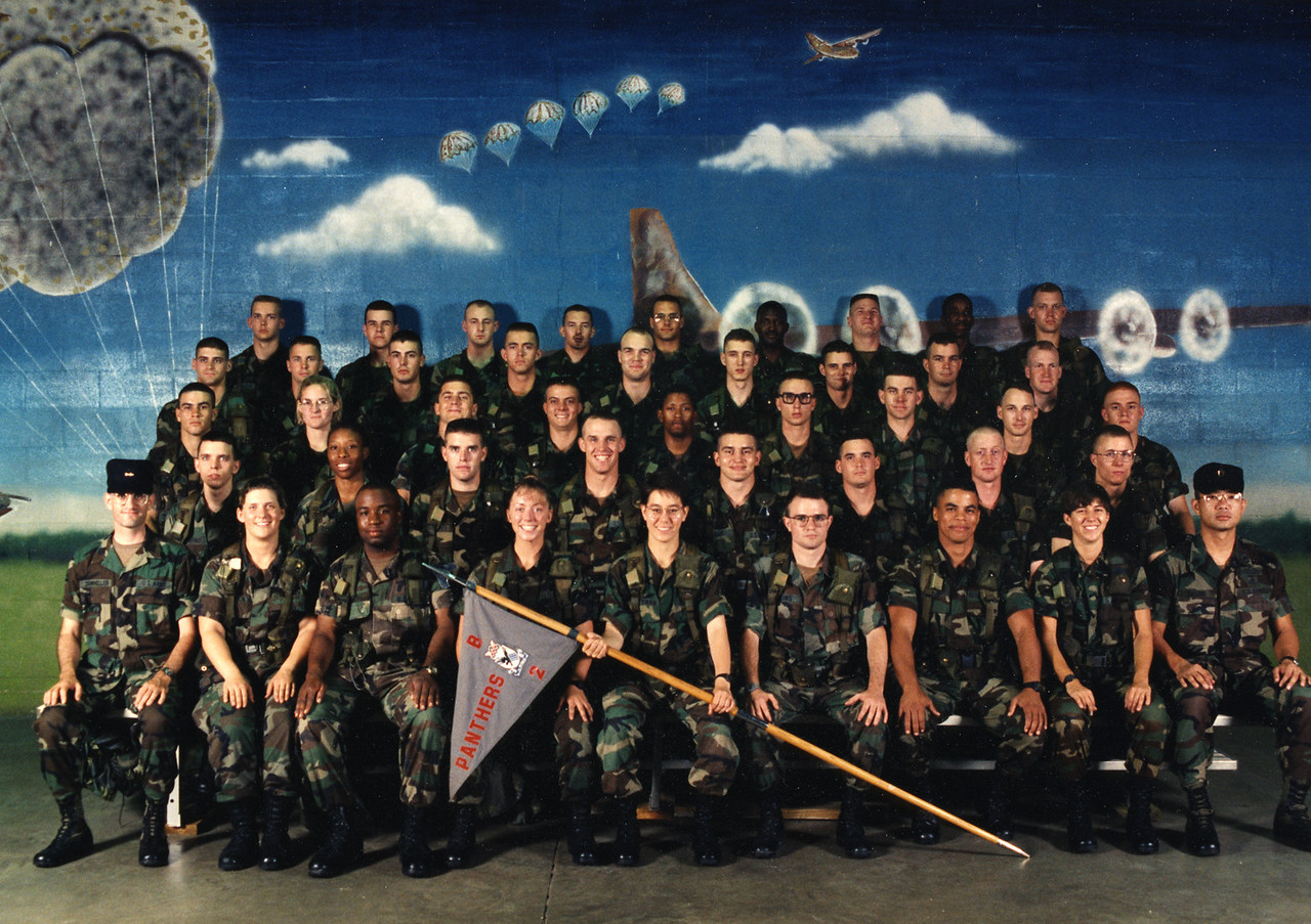 ROTC Advanced Camp at Fort Bragg, NC, 1994.  I'm in the top right corner.