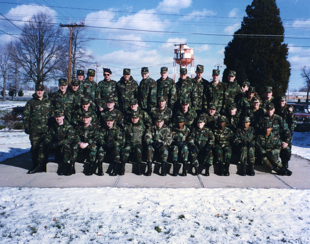Ordnance Officer Basic Course, Aberdeen Proving Ground, Maryland.  I graduated from OBC in January of 1996.  I'm in the back row, 3rd from th right.