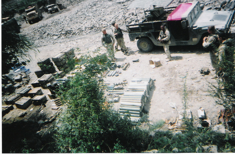 2003 - Recovered weapons caches in the mountains of Afghanistan near the Pakistani border.