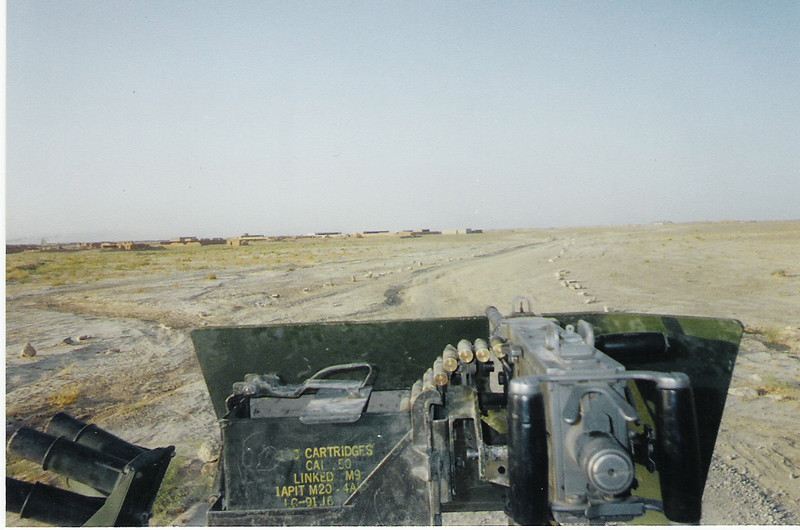 2003 - Area security patrol in southern Afghanistan. Outside the rocks, there be landmines!